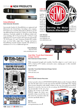 SEMA News Magazine Feature, June 2013